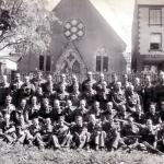 "No.4 Commando  ""D"" Troop  o/s Lake Road Chapel Keswick circa 1942"