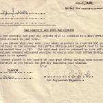 War Gratuity and Post War Credits Letter 20 Feb 1946