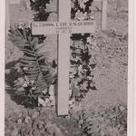Cross at the grave of LCpl. Donald Macquarrie