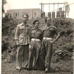 No 5 Cdos. Arthur Baseley, Titch Dyson and unknown