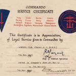 Restored Commando Service Certificate for TSM Andrew O'Marah