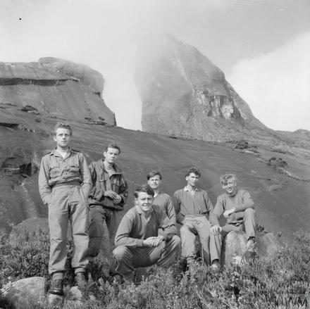 40 Commando on Mount Kinabalu, the highest peak in SE Asia 1965