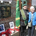 Fred Davies and Charmian, daughter of Pat Porteous VC