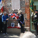 Unveiling of the plaque to Patrick Porteous VC