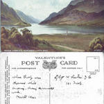 Annotated post card re death of Harry Tunstall
