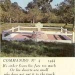 Original location of the monument to No.4 Commando at Hauger