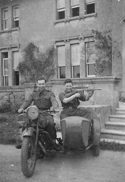 Unknown commandos on motorbike & sidecar