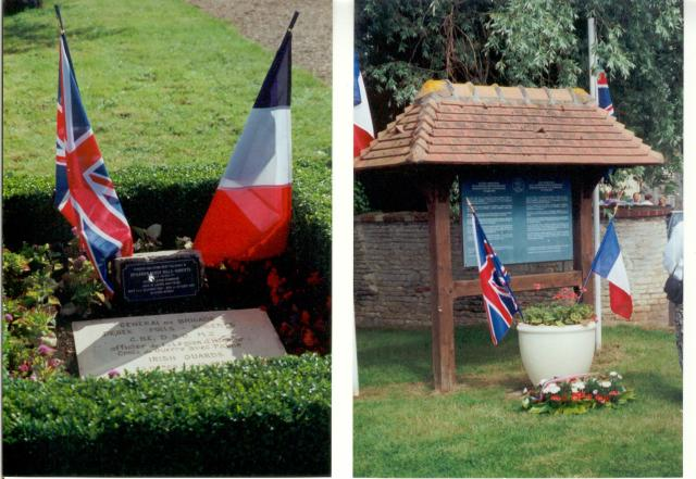 Brigadier Derek Mills Robert's ashes at Bavent, Normandy