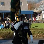 National Standard Bearer, Fred Davies, Marches Off.