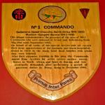 No.1 Commando plaque at Irvine library