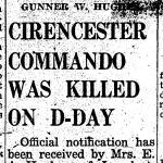 Gunner Harold William Hughes kia 6th June 1944
