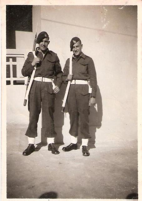 Norman Clack 45 Cdo. RM and Steve circa late 1940s early 1950s.
