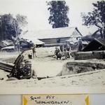 145 Commando Bty Gun Pit Semindalan, Sabah Borneo 1964. No 1 Bdr Kerslake.