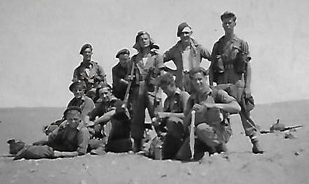 William Johnson and others 45 Cdo RM belvd Haifa/Palestine area circa late 1940s