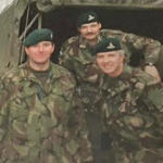 Ron Hanna (left) and others 289 Cdo. Bty. RA
