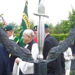 The Service at The CVA Memorial