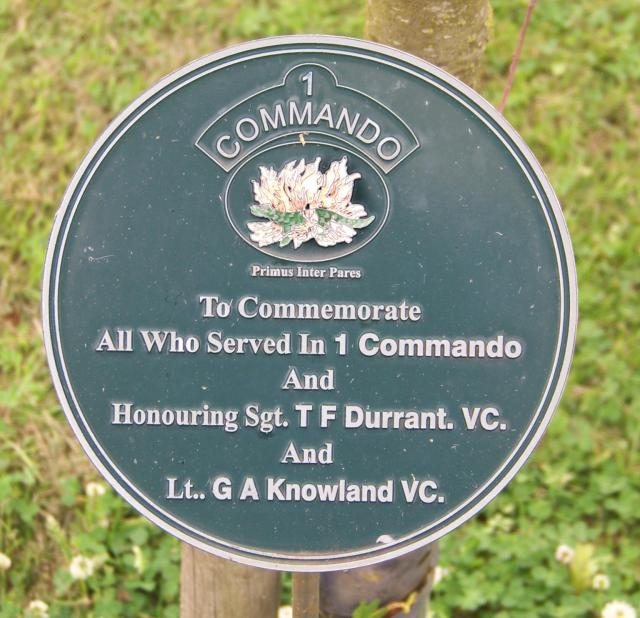 No.1 Commando Memorial Plaque at Alrewas