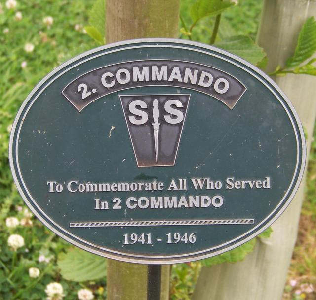 No.2 Commando Memorial Plaque at Alrewas