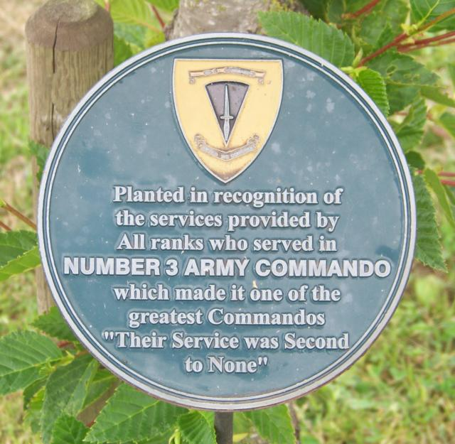 No.3 Commando Memorial Plaque at Alrewas