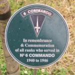 No.6 Commando Memorial Plaque at Alrewas