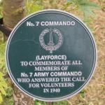 No.7 Commando Memorial Plaque at Alrewas