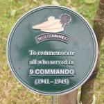 No.9 Commando Memorial Plaque at Alrewas