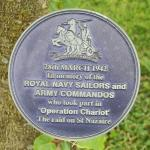 Alrewas Memorial Plaque for 'Operation Chariot'