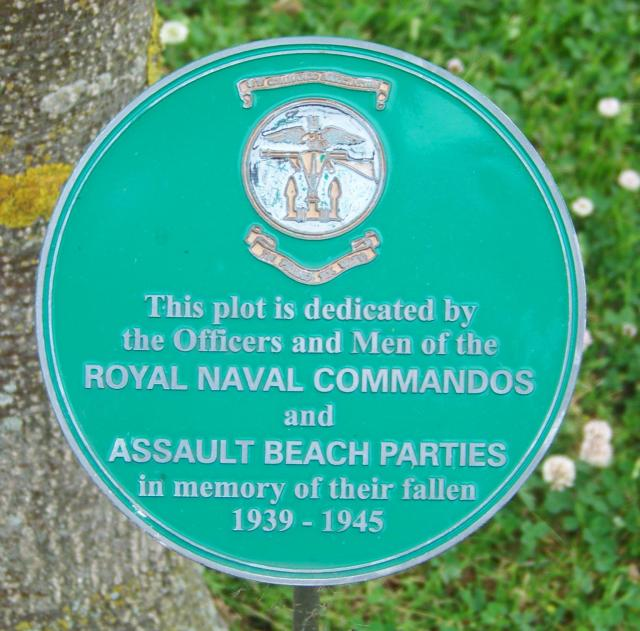 Alrewas Memorial Plaque; RN Cdos & Assault Beach Parties