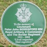 Alrewas plaque for Lt. John Berrisford MM.  No.6 Commando.