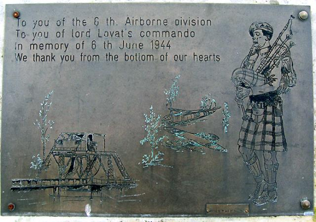 6th Airborne and Commandos plaque, Normandy