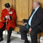 In-Pensioner, Fred Rooke, REME and Dick Goodwin.
