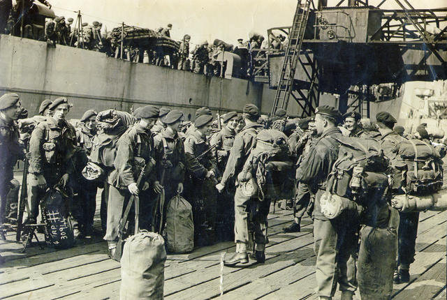 No 3 Commando 4 Troop at Tilbury 1945