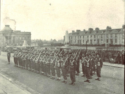 Troop Inspection No.2 Commando at Wellington Square, Ayr, 1942 (2nd image)
