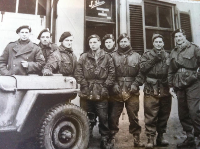 Group including some from No.4 Commando French troop.