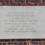Uden War Cemetery plaque