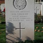 Grave of Sgt Hugh Henry Stalker