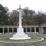 Rheinberg War Cemetery cross