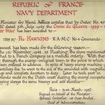 Pte Isaac Hawkins, Croix de Guerre