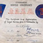 Commando Service Certificate