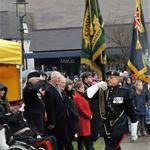 The Colour Party moves off past The Lord Lieutenant of Inverness-shire
