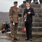 BSM Clarke briefs the Bugler