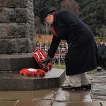 Ron Lain lays The CVA Wreath