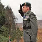 Major Sutherland, RM, lays the Wreath on behalf of the Royal Marines