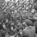 Men of 4 Commando being briefed by Lt Col R Dawson in preparation for D Day.