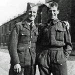 Private Garfield Grieve on right