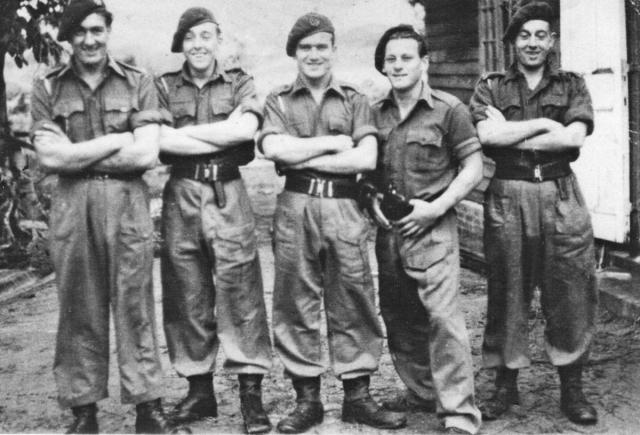 Billy Moore and pals from No.5 Cdo. 5 troop