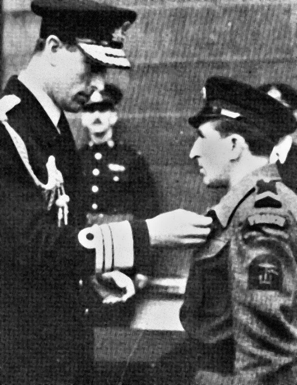 Francois Baloche receives the Military Medal