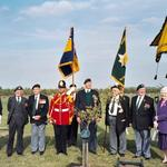 Mrs Barbara Younger plants a tree to commemorate No.5 Cdo, National Arboretum, Alrewas, June 2003.