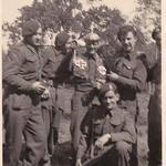 Jock Mills, Bob Yaxley, Jock Clark, Len Campbell, A Wicks, Neustadt, May 1945