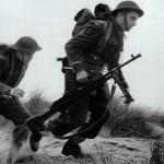Bren gun team from the Polish Troop